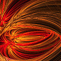 Red Luminescence-fractal Art by Lourry Legarde