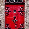 Red Medieval Door by Elena Elisseeva