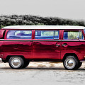 Red Microbus by Bill Cannon