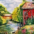 Red Mill At Waupaca by Marilyn Smith