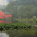 Red Mill Misty Morning by Pat Abbott