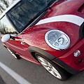 Red Mini-cooper Car On County Road by Nicole Berna