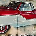 Red Mini Nash Vintage Car by Peggy Franz