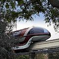 Red Monorail Disneyland 01 by Thomas Woolworth