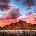 Red Mountain Sunset by John Haldane