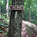 Red North Sign by Glenn Gordon