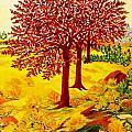 Red Oaks  Pop Art by Gunter  Hortz
