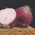 Red Onions On Chess Box by C Sergent Lindsey
