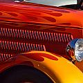 Red Orange And Yellow Hotrod by Dean Ferreira