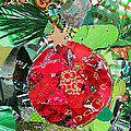 Red Ornament by Suzy Pal Powell