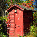 Red Outhouse by Paul Ward