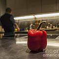 Red Pepper Awaits The Chop by Eden Breitz