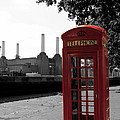 Battersea Power Station And The Red Phone Box by Philip Pound