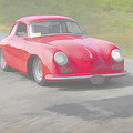Red Porsch 356 by Jack R Perry