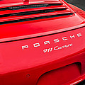 Red Porsche 911 Detail E183 by Wendell Franks