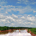 Red River Railroad Bridge by Paulette B Wright
