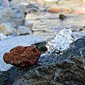 Red Rock And Crystal Water by Brent Dolliver