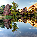 Red Rocks Reflection by OLena Art Lena Owens