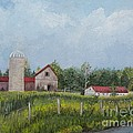 Red Roof Barns by Reb Frost