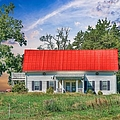 Red Roof Charm by Liane Wright