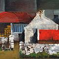 Red Roofs In Clare by Val Byrne