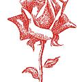 Red Rose Art 1 by Gordon Punt