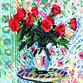 Red Roses In Water by Candace Lovely