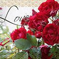 Red Roses Love And Lace by Sandra Foster