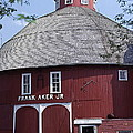 Red Round Barn With Cupola by Robert Birkenes