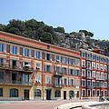 Red Row Houses In Nice by Christiane Schulze Art And Photography