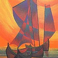Red Sails In The Sunset by Tracey Harrington-Simpson