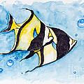 Red Sea Banner Fish  by Irina Gromovaja