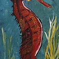 Red Seahorse - Sold by Christiane Schulze Art And Photography