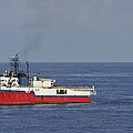 Red Seismic Vessel by Bradford Martin