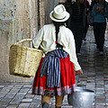 Red Skirted Woman Of Cuenca by Kurt Van Wagner