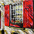 Red Shutters by Alan Metzger