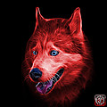 Red Siberian Husky Dog Art - 6062 - Bb by James Ahn