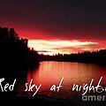 Red Sky At Night by Jennifer Kimberly