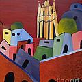 Red Sky In San Miguelle De Allende by Barbara McMahon