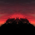 Red Sky In The Morning 02 Mirror Image by Thomas Woolworth