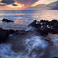 Red Sky Over Lanai by Mike  Dawson