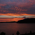 Red Sky Over Wachusett 1 by Ronald Raymond