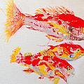 Red Snapper Family Painted by Phyllis Soderberg