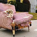 Red Striped Chair by Robert Mollett