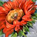 Red Sunflower by Tim Gilliland