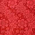 Red Sunflower Wallpaper Design, 1879 by William Morris
