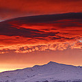 Red Sunrise Over National Park Sierra Nevada by Guido Montanes Castillo