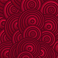 Red Swirls by Frank Tschakert