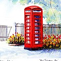 Red Telephone Box by Debbie  Fisher