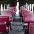 Red Train Seats by For Ninety One Days